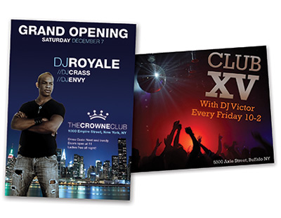 club flyer printing services